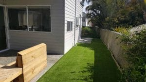Artificial turf perth - exposed aggregate alfresco Perth