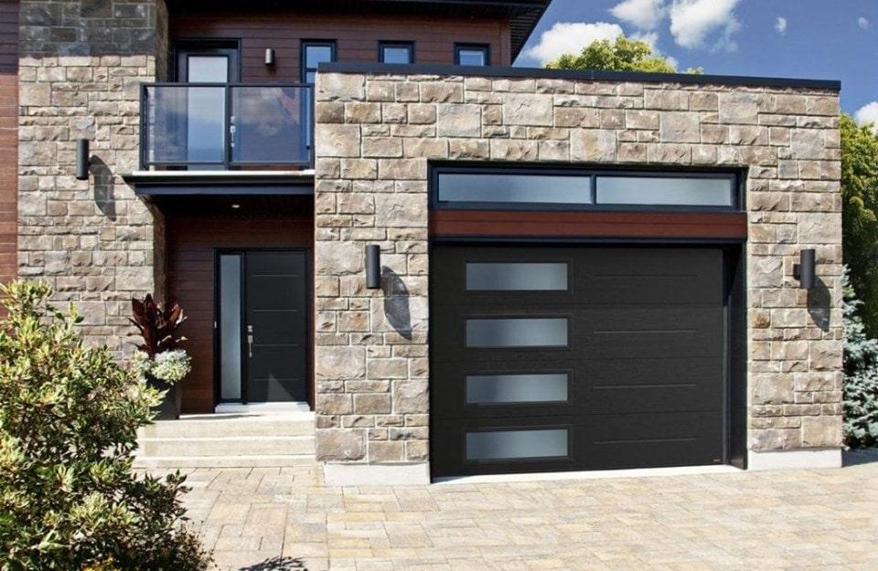 Custom-garage-Door-wood-look-window-inserts