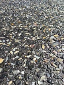 Black Sheoak Exposed Aggregate Concrete Closeup
